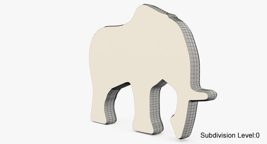 Animali giocattolo in legno royalty-free 3d model - Preview no. 16