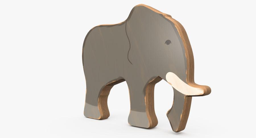 Animali giocattolo in legno royalty-free 3d model - Preview no. 9