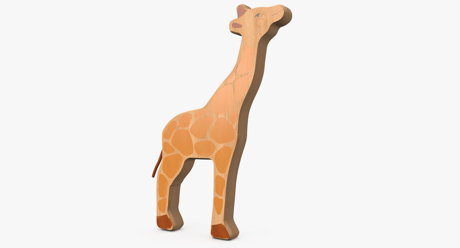 Animales de juguete de madera royalty-free modelo 3d - Preview no. 13