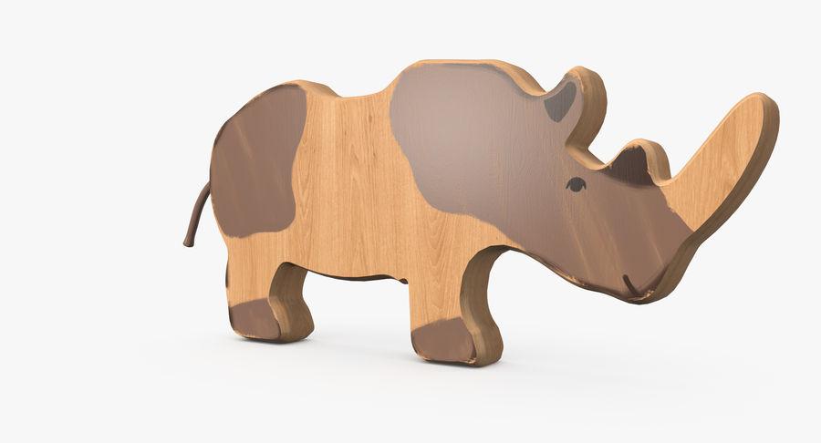 Animales de juguete de madera royalty-free modelo 3d - Preview no. 10