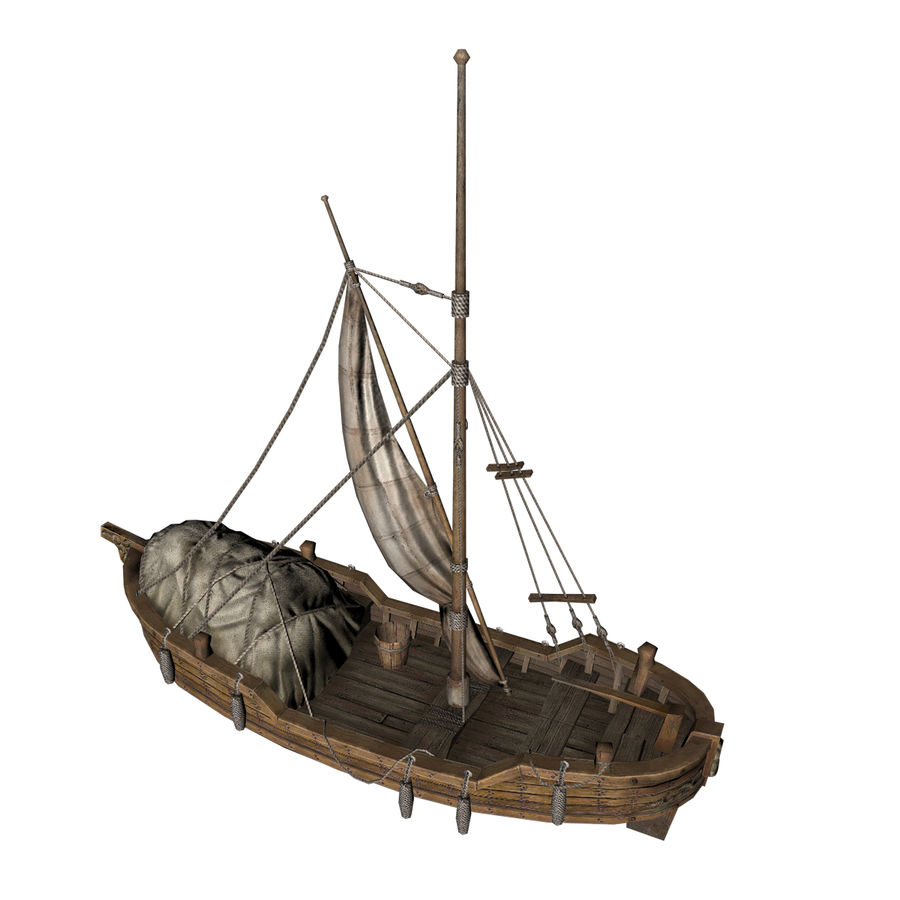 Segelboot royalty-free 3d model - Preview no. 2