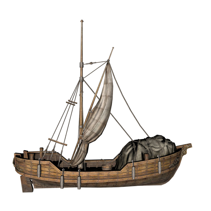 Segelboot royalty-free 3d model - Preview no. 5