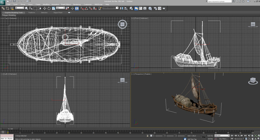 Segelboot royalty-free 3d model - Preview no. 16