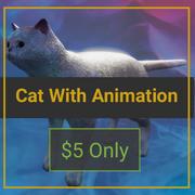 gatto bianco 3d model