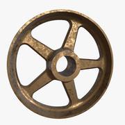 Spoked Bronze Wheel 3d model