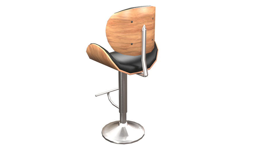 Bar Stool royalty-free 3d model - Preview no. 15