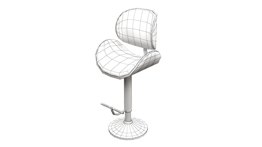 Bar Stool royalty-free 3d model - Preview no. 14