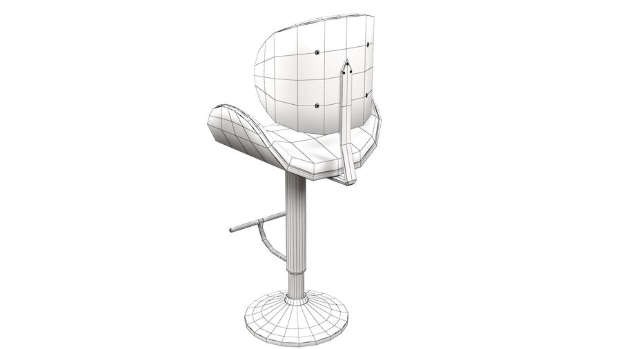 Bar Stool royalty-free 3d model - Preview no. 16