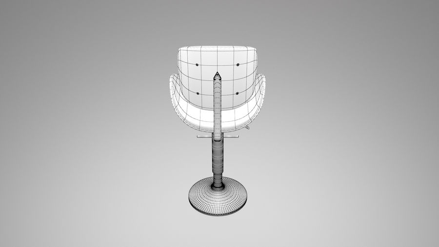 Bar Stool royalty-free 3d model - Preview no. 12