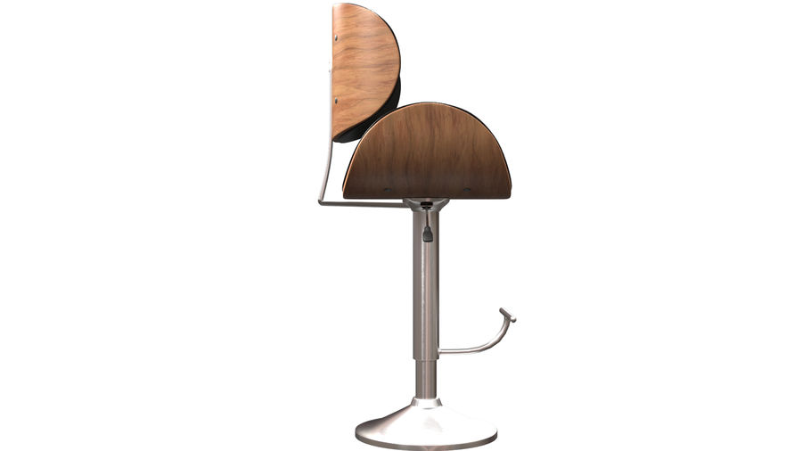 Bar Stool royalty-free 3d model - Preview no. 9