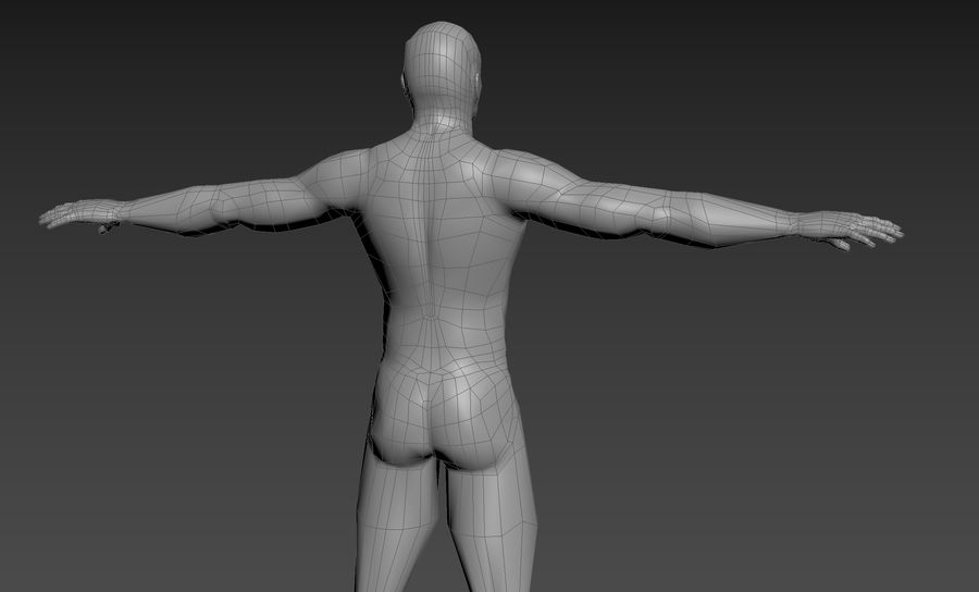 男性のベースメッシュ royalty-free 3d model - Preview no. 2