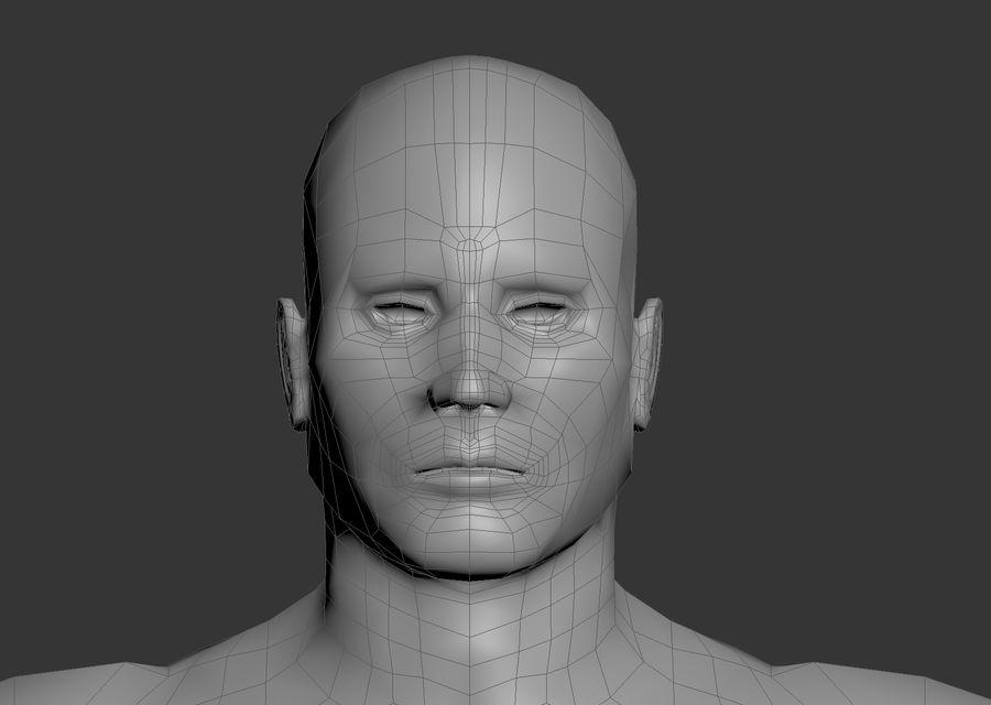 男性のベースメッシュ royalty-free 3d model - Preview no. 1