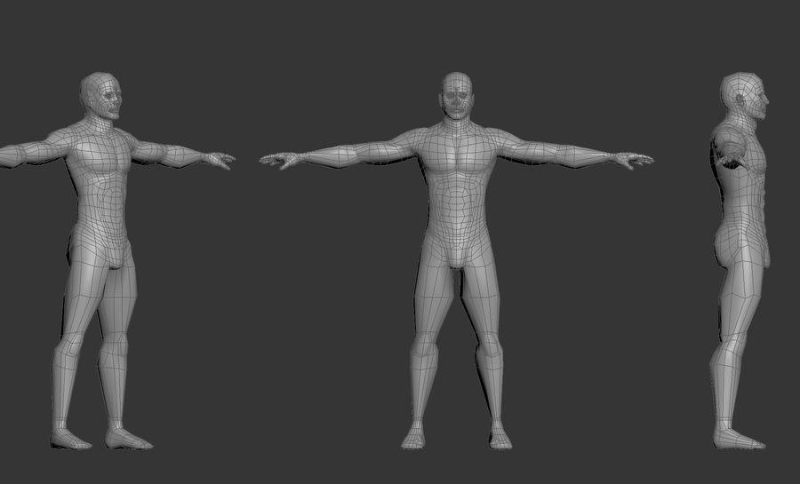 男性のベースメッシュ royalty-free 3d model - Preview no. 4
