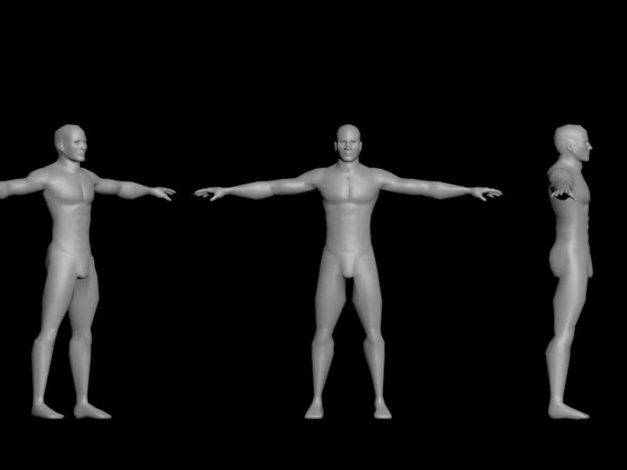 男性のベースメッシュ royalty-free 3d model - Preview no. 5
