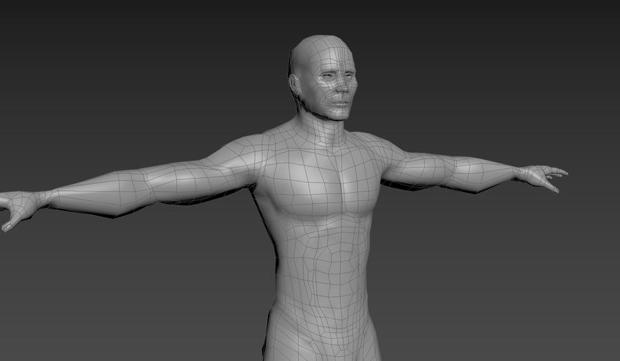 Malla Masculina royalty-free modelo 3d - Preview no. 1