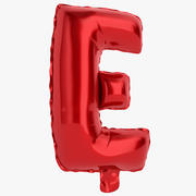 Balloon Letter E Red 3d model