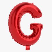 Balloon Letter G Red 3d model