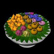 Thai dessert set 3d model