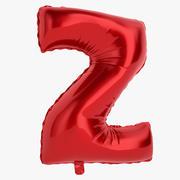 Balonowa litera Z czerwona 3d model