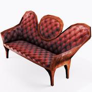 Vecchio divano vittoriano 3d model