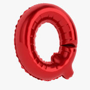Balloon Letter Q Red 3d model