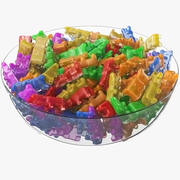 Gummy Bears Bowl 3d model