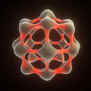 Carbon Structure Fullerene 3d model