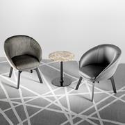 Minotti Russel Little Lounge Chair 3d model