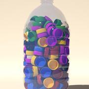 Kapaklar ve evcil hayvan şişesi animasyonlu 3d model