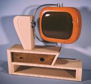 旧电视老式家具 3d model