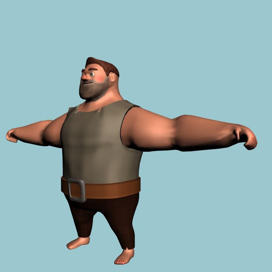Персонаж мультфильма royalty-free 3d model - Preview no. 1