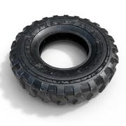 Large Used Tyre 3d model