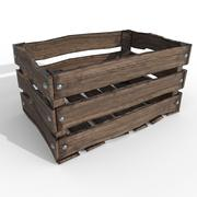 Beaten Up Old Wooden Crate 3d model