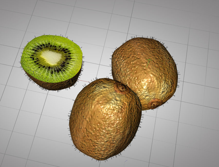 Kiwi royalty-free 3d model - Preview no. 3
