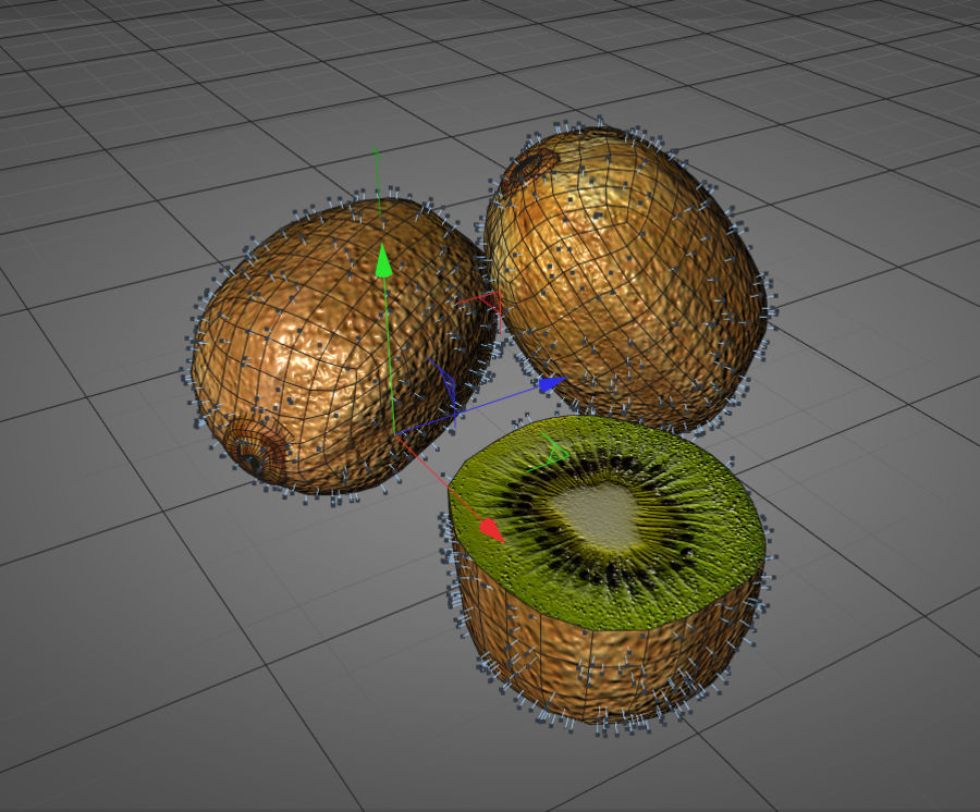 Kiwi royalty-free 3d model - Preview no. 10