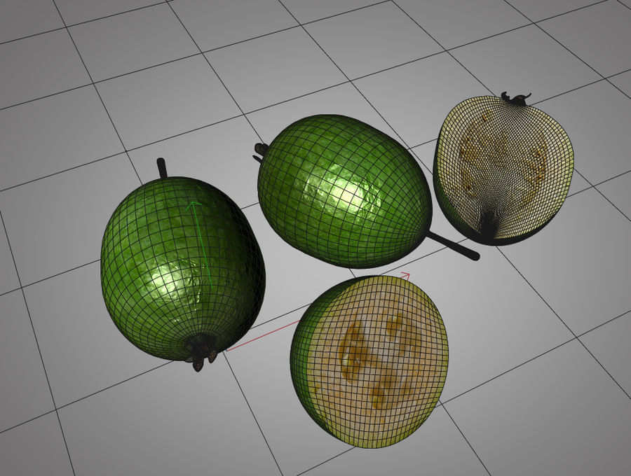 Feijoa royalty-free 3d model - Preview no. 9