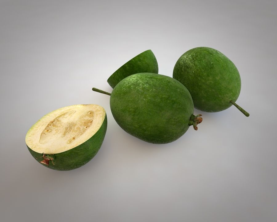 Feijoa royalty-free 3d model - Preview no. 3