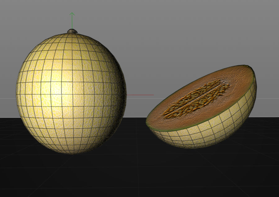 Melon royalty-free 3d model - Preview no. 8