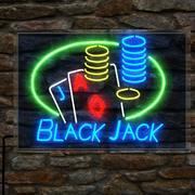 ブラックジャックのネオンサイン 3d model