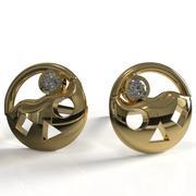 Circle earrings 3d model