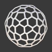 Сотовая сфера 3d model