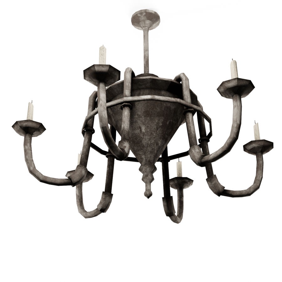 Chandelier - Victorian style royalty-free 3d model - Preview no. 6
