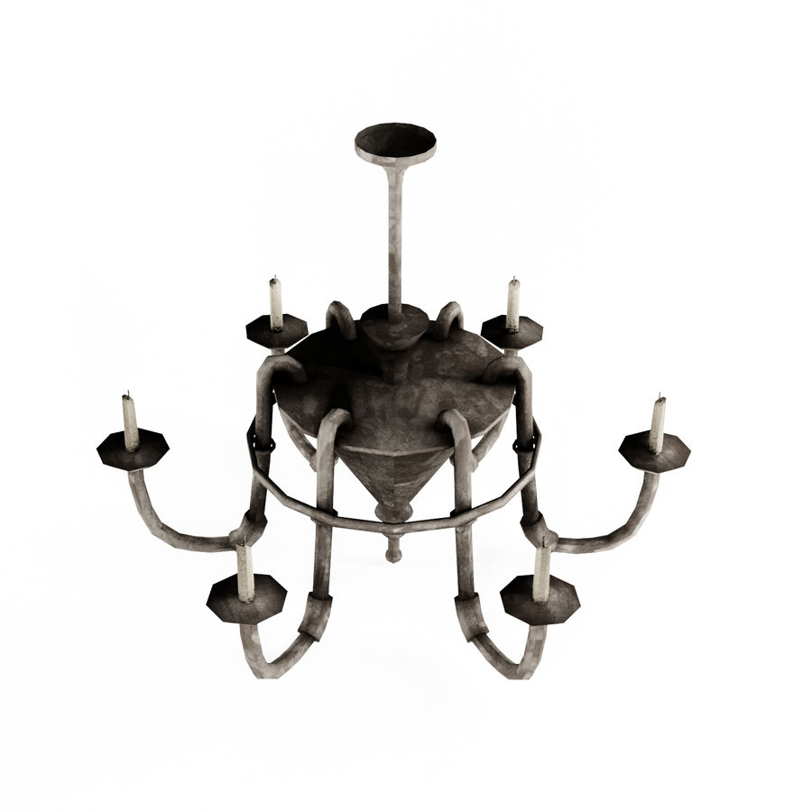 Chandelier - Victorian style royalty-free 3d model - Preview no. 2