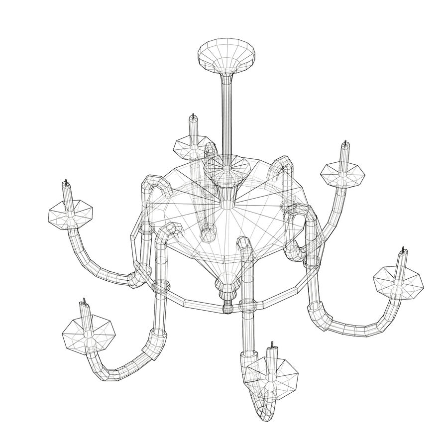 Chandelier - Victorian style royalty-free 3d model - Preview no. 10