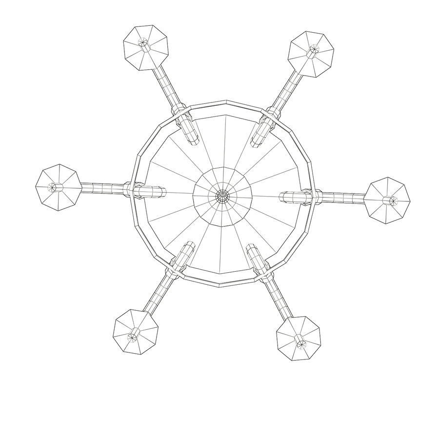 Chandelier - Victorian style royalty-free 3d model - Preview no. 11