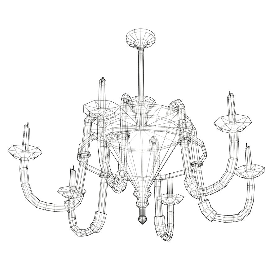 Chandelier - Victorian style royalty-free 3d model - Preview no. 9