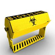 Conteneur Bio Danger 3d model