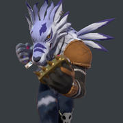 Weregarurumon 3d model