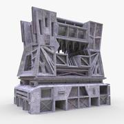 Brutal sci-fi building 3d model