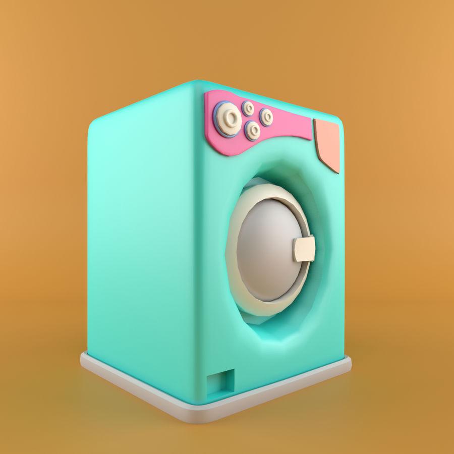 Machine à laver de dessin animé royalty-free 3d model - Preview no. 1